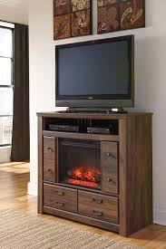 quinden media chest with fireplace the furniture mart