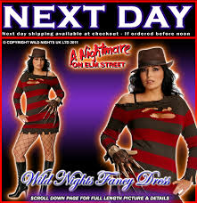 Halloween Freddy Krueger Costume Halloween Fancy Dress Costume Freddy Krueger Xl 16 18