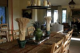 Rustic Dining Room Table Decor Wine Country Living Rooms With Vineyard Views Country Dining