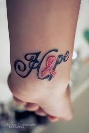a beautiful worn by a breast cancer survivor tattoos