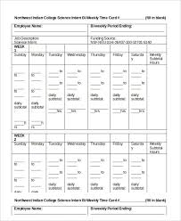 printable time card template 12 free word excel pdf documents