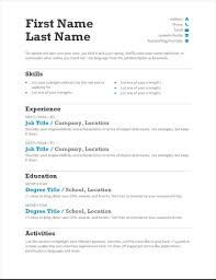 resume free templates resumes and cover letters office
