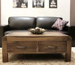 mayan solid walnut home living room furniture nest of three coffee