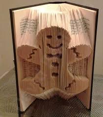 Book Paper Folding - gingerbread combi cut and fold book folding pattern