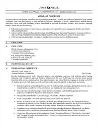 Best Sample Resume by College Professor Resume Objective