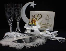 lady and the tramp wedding lot cake topper glasses knife set