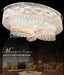 Cascading Chandelier by Discount New Cascading Large Modern Oval Chandelier K9 Crystal