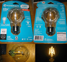 ecosmart light bulbs warranty lighting gallery net led ecosmart led filament bulb