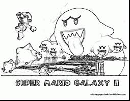 super mario galaxy coloring pages free printable mario coloring