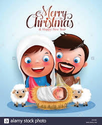 belen with jesus born in manger belen with joseph and mary vector
