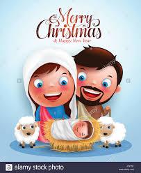 belen with jesus born in manger belen with joseph and vector