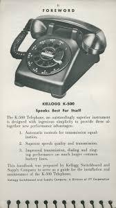 kellogg k 500 telephone handbook page 1