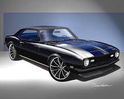 custom 1968 camaro 1968 camaro ss rs print poster by danny whitfield