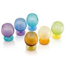 bicchieri ivv ivv set 6 calice acqua multicolor calici acqua multicolor