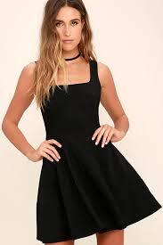 black dress pretty black dress skater dress lbd 42 00