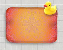 Orange Bathroom Rugs by Bath Rugs Etsy