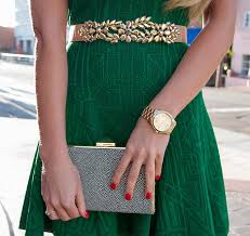 holiday time in green rvn dress the champagne blonde