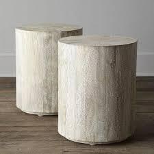 White Wash Coffee Table - nate berkus whitewash hex accent table