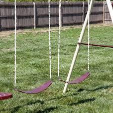 amazon com flexible flyer play park swing set w slide swings