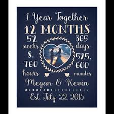 what to get husband for 1 year anniversary dating anniversary etsy