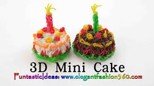 3d halloween cakes rainbow loom mini cake 3d charms how to loom bands tutorial