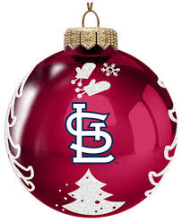 memory company st louis cardinals glass tree ornament