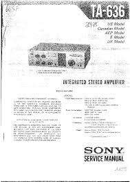 sony ta 636 sm service manual download schematics eeprom repair