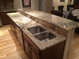 Dark Kitchen Cabinets With Backsplash Sienna Beige Granite Kitchen Remodel Kitchen Granite Home