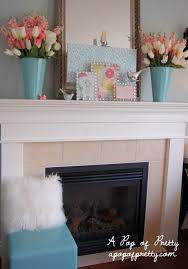 spring mantel ideas a pop of pretty blog canadian home