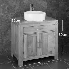 Cm Cabinet  Doors Alta Oak Wenge With Trieste Basin - Bathroom basin and cabinet 2