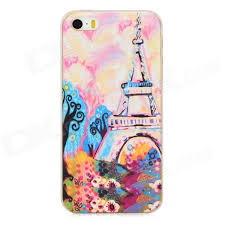 relief eiffel tower watercolor painting style protective pc back