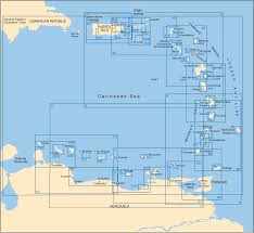 Map Of Eastern Caribbean by Imray Iolaire