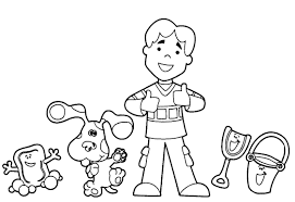 blues clues notebook coloring pages virtren com