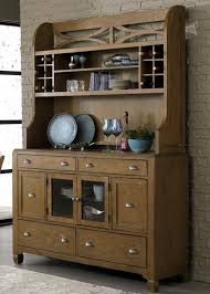 dining hutch u0026 6 drawer buffet with unique curved x accents by