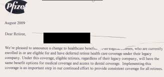 medicare certification letter how pfizer saved millions by dumping its retirees on medicare in fact