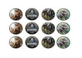 jurassic park cake topper jurassic world party theme cupcake topper tag for kids