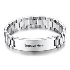 personalized engraved bracelets personalized engrave men bracelet cool wide stainless steel bracelet