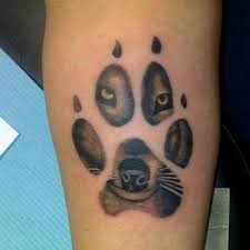 wolf paw print tattoos 3d model meaning design idea for and