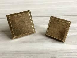 vintage cabinet door knobs square decorative dresser drawer knobs antique bronze retro