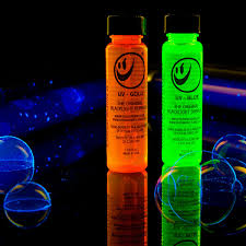 liquids that glow under black light thinkgeek tekno blacklight bubble liquid glow in the dark