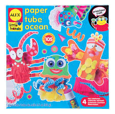 amazon com alex toys little hands paper tube ocean toys u0026 games