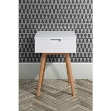 Bed Side Desk Bedside Table Scandinavian Style Solid Oak Frame