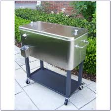 patio cooler cart on wheels patios home decorating ideas