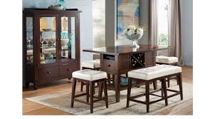 place chocolate brown vanilla off white 5 pc counter height