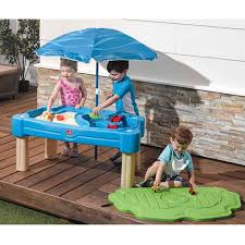 Water Table Toddler Step2 Cascading Cove Sand And Water Table With Cover Walmart Com