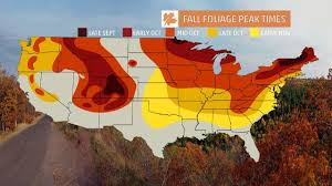 map usa color fall foliage maps weather inside usa color map in world maps