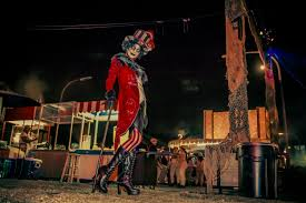 dark harbor u0027s sinister circus queen mary arts u0026 culture