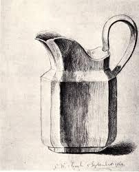 vincent van gogh milk jug 1862 pencil grey wash on laid paper