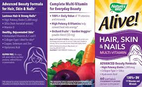 amazon com nature u0027s way alive hair skin u0026 nails multi vitamin