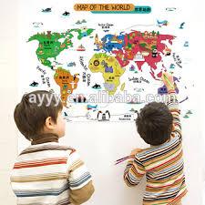 Decorative World Map Sk9032 The Animals And The World Map Diy Children U0027s Decorative